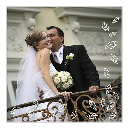 Carte de remerciement mariage Nature marron dessin