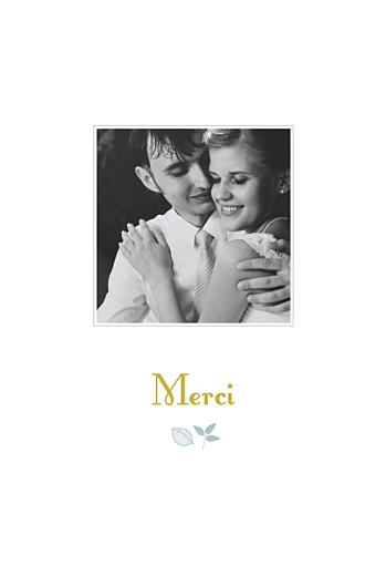 Carte de remerciement mariage Forêt bleu
