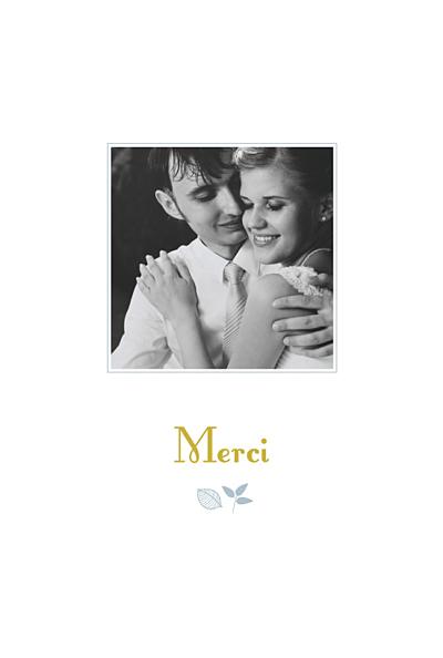 Carte de remerciement mariage Forêt bleu finition