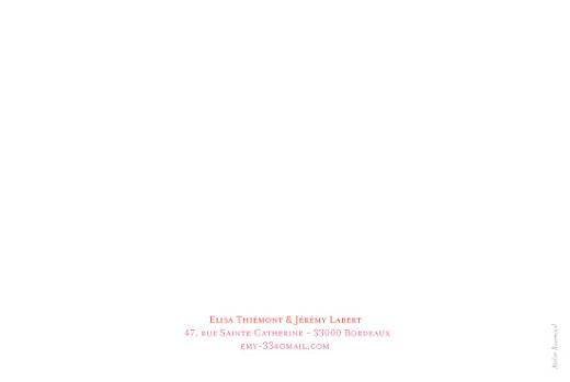 Carte de remerciement mariage Flower power corail - Page 2