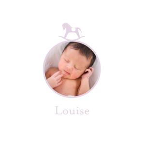 Faire-part de naissance Petit cheval photo 4p parme
