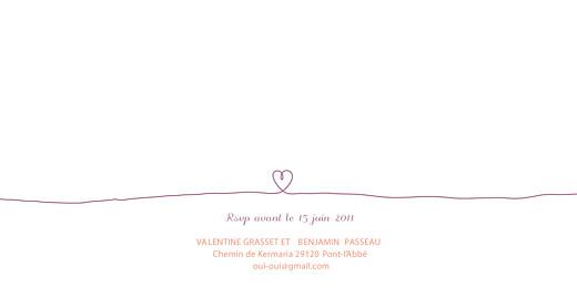 Faire-part de mariage Tendresse violet - Page 2
