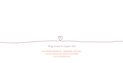 Faire-part de mariage Tendresse 2 violet - Page 2