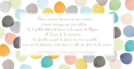Faire-part de mariage Aquarelle orange - Page 2