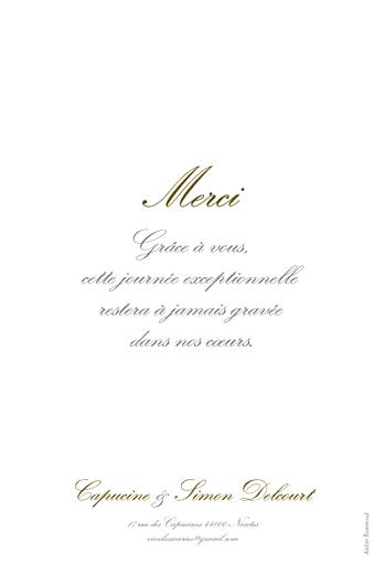 Carte de remerciement mariage Plein la vue ! (portrait) photo