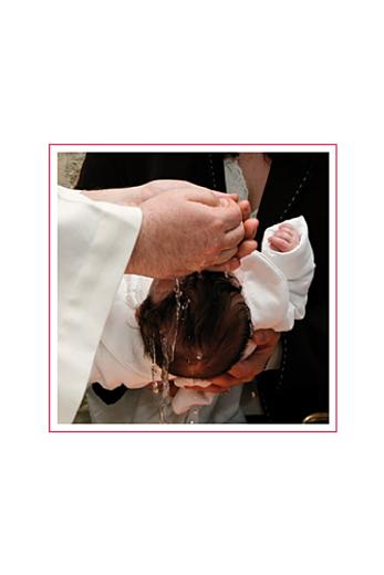 Faire-part de baptême Croix & colombes rose - Page 2