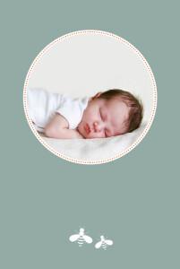 Faire-part de naissance Occitan vert