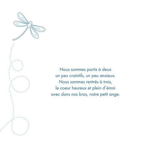 Faire-part de naissance Libellule 8 photos bleu - Page 2