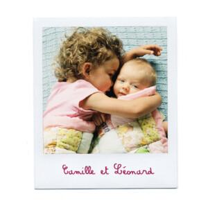Faire-part de naissance Polaroid 4 pages blanc