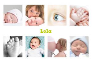 Faire-part de naissance 9 photos blanc