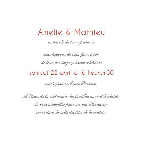 Faire-part de mariage Réjouissance blanc - Page 3