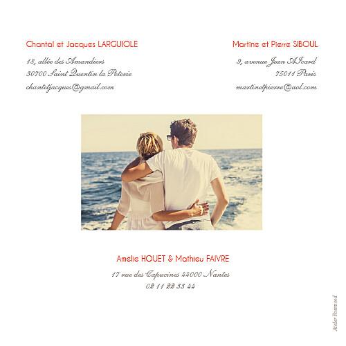 Faire-part de mariage Réjouissance blanc