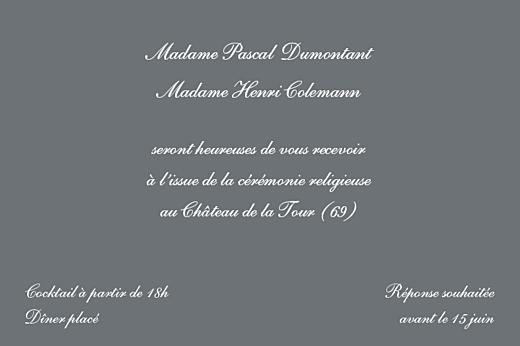 Carton d'invitation mariage Elegant ardoise - Page 1
