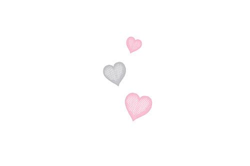 Carton d'invitation mariage Coeurs gris pâle