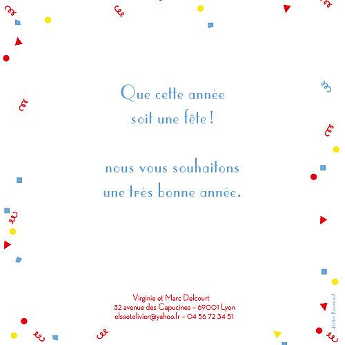 Carte de voeux Cotillons rouge - Page 2
