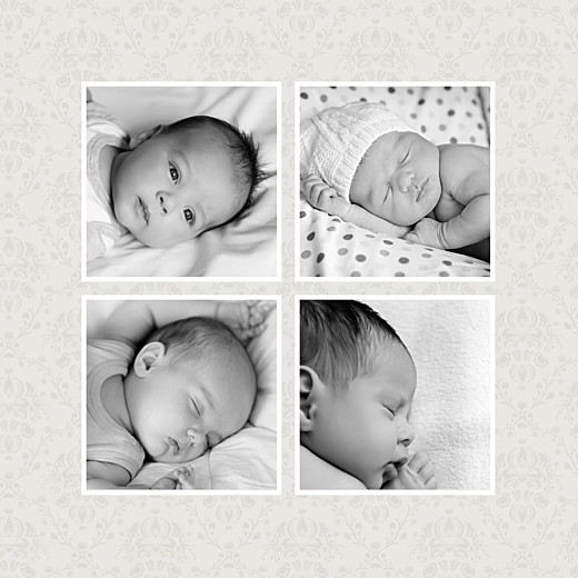 Faire-part de naissance Ambiance florale 5 photos fille
