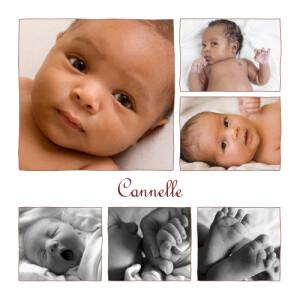 Faire-part de naissance 6 photos chocolat