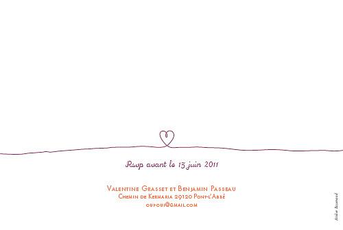 Faire-part de mariage Petit tendresse violet - Page 2