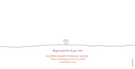 Faire-part de mariage Fiançailles violet - Page 2