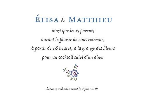 Carton d'invitation mariage Floraison