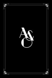 Faire-part de mariage Art déco (4 pages) noir
