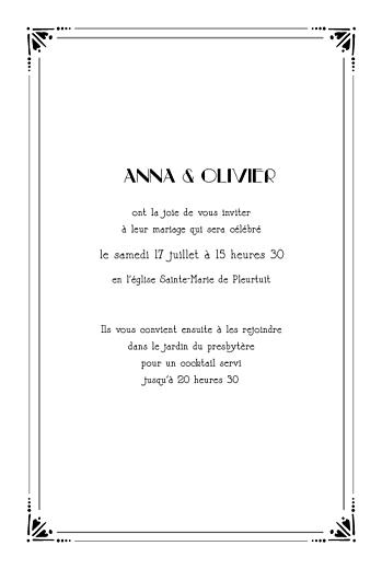 Faire-part de mariage Art déco (4 pages) noir - Page 3