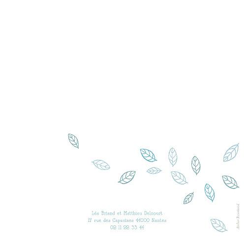 Faire-part de mariage Nature bleu - Page 4