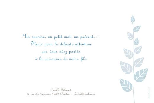 Faire-part de naissance Elégance recto verso bleu