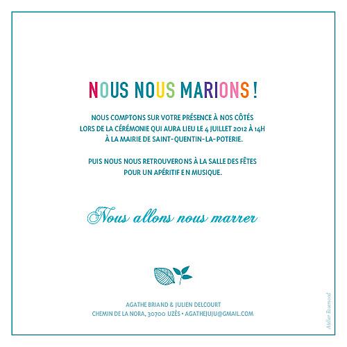 Faire-part de mariage Marrons-nous céladon - Page 2