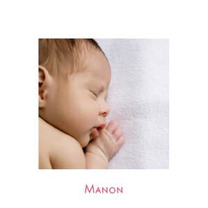 Faire-part de naissance Classique 2 photos blanc