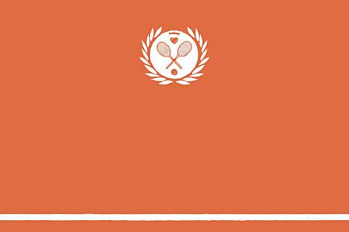 Carton d'invitation mariage Tennis orange