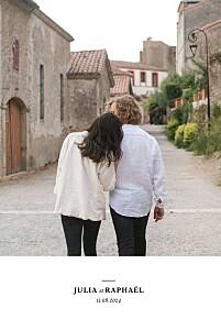 Faire-part de mariage avec 2 photos et plus tout simplement blanc