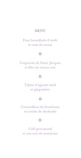 Menu de mariage Élégant blanc - Page 3