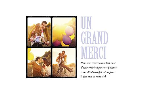 Carte de remerciement mariage 4 photos (paysage)