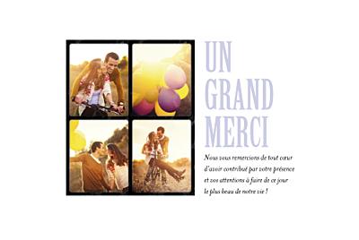 Carte de remerciement mariage 4 photos (paysage) finition