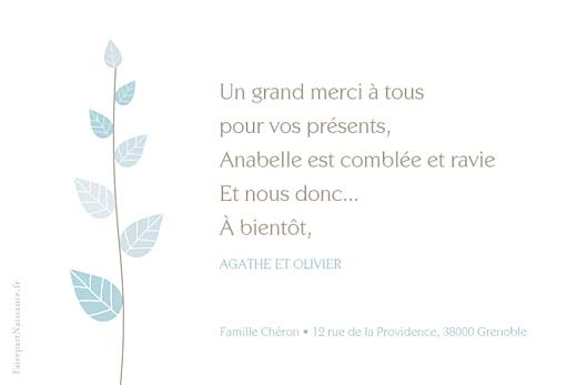 Carte de remerciement Petit élégance garcon rv bleu