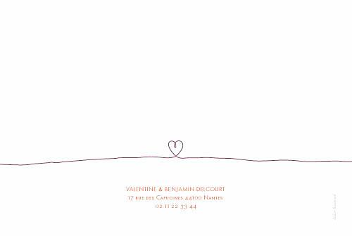 Carte de remerciement mariage Tendresse violet - Page 2