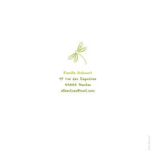 Faire-part de naissance Libellule 4 photos vert clair - Page 4
