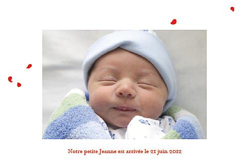 Faire-part de naissance Coquelicot 4 photos rouge - Page 2