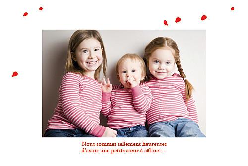 Faire-part de naissance Coquelicot 4 photos rouge - Page 3