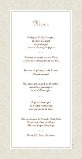 Menu de mariage Nous deux panoramique marron - Page 2