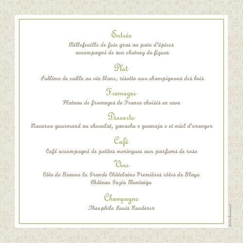 Menu de mariage Nous deux vert - Page 2