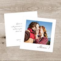 carte de remerciement mariage petit polaroid blanc - Carte De Remerciement Mariage