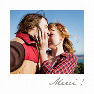 carte de remerciement mariage petit polaroid blanc - Carte Remerciement Mariage Original
