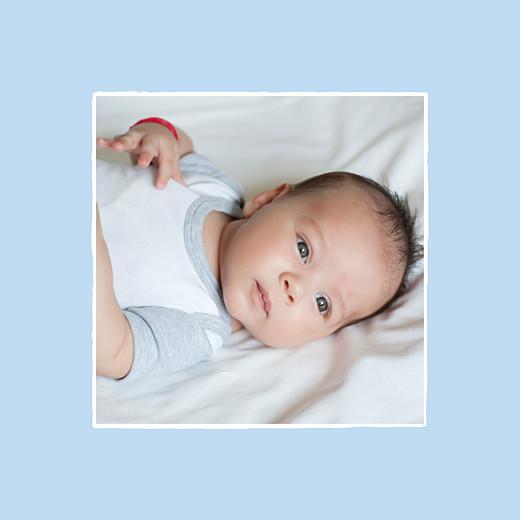 Faire-part de naissance Cheval photo 4 pages ciel