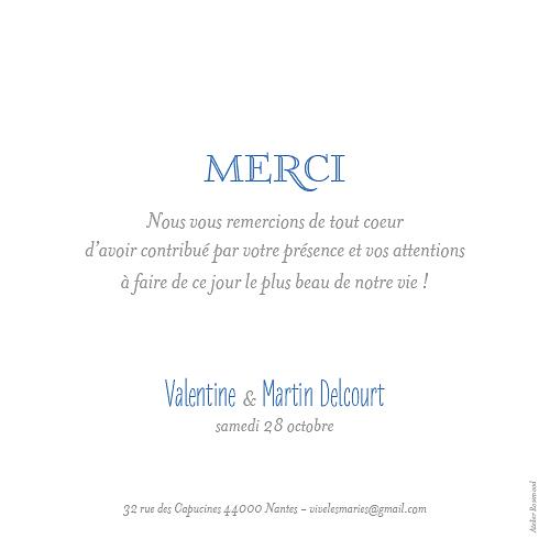 carte de remerciement mariage simple 6 photos blanc - Lettre De Remerciement Mariage