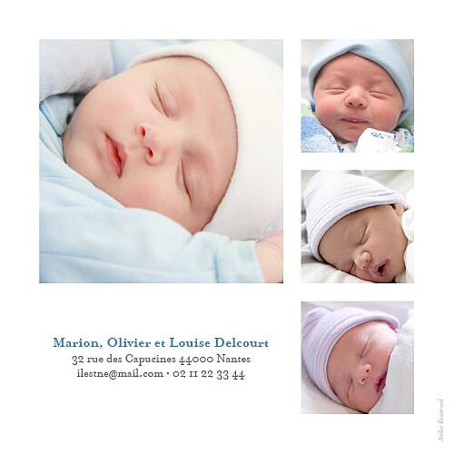 Faire-part de naissance Classique 9 photos blanc - Page 4