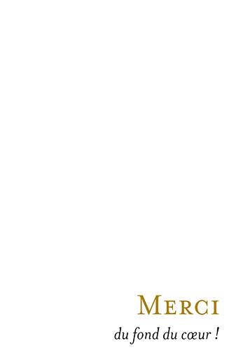 Carte de remerciement mariage Simplement merci (petit format) blanc - Page 3