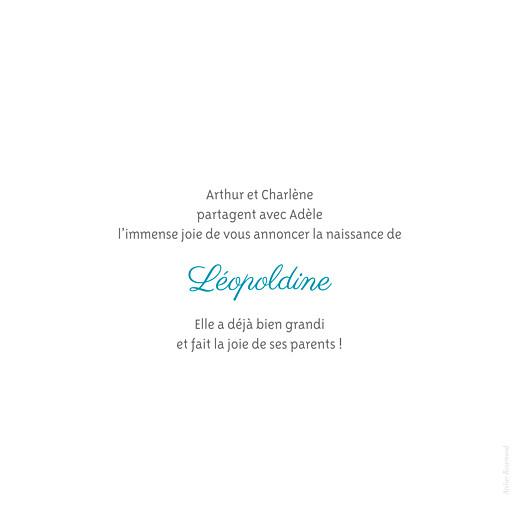 Faire-part de naissance Chevalet blanc