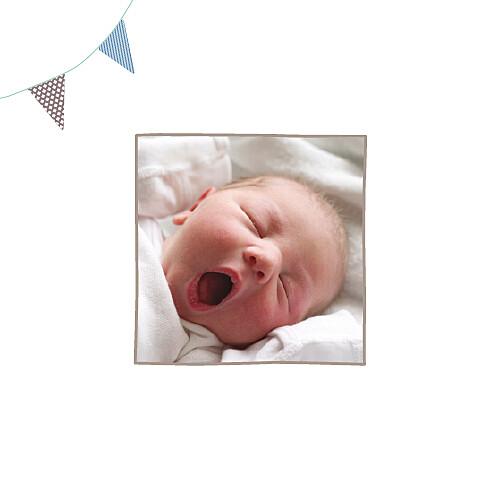 Faire-part de naissance Fanions 2 photos taupe - Page 2